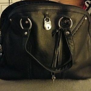 Black bowling shoulder style purse